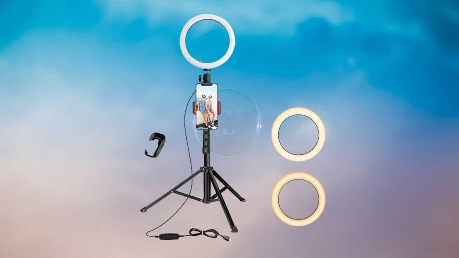 8 Selfie Ring Light with Tripod Stand