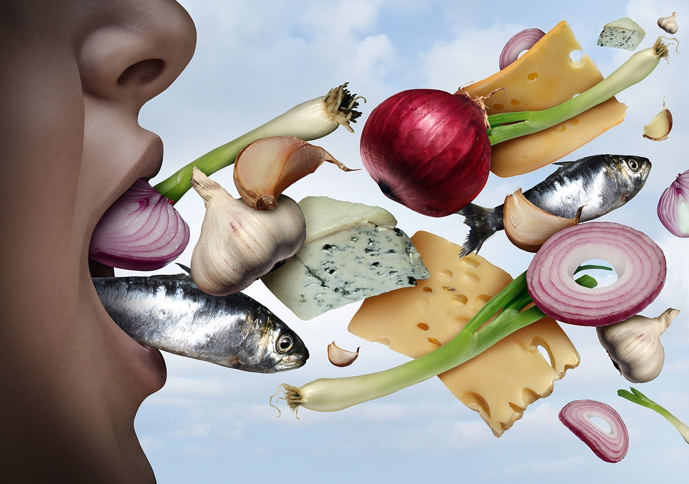 Avoid foods that cause bad breath