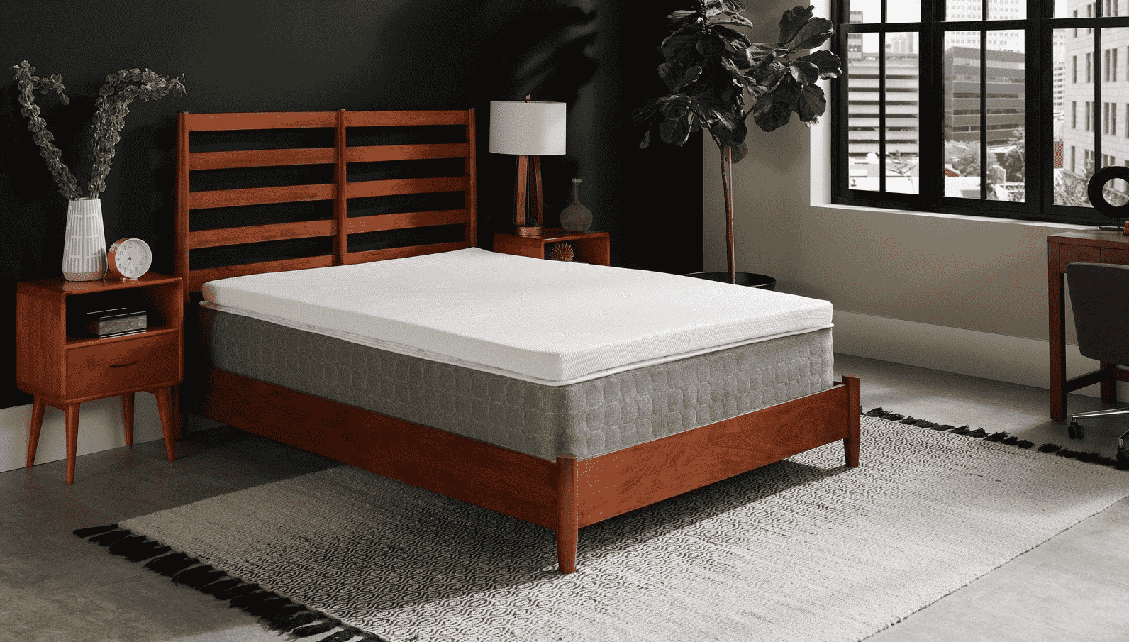 Bed with Plush Top