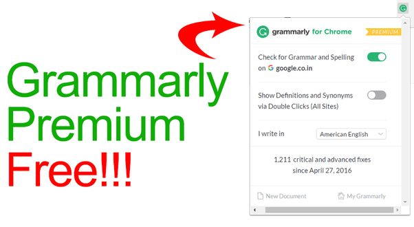 Get Grammarly Premium Free for Lifetime
